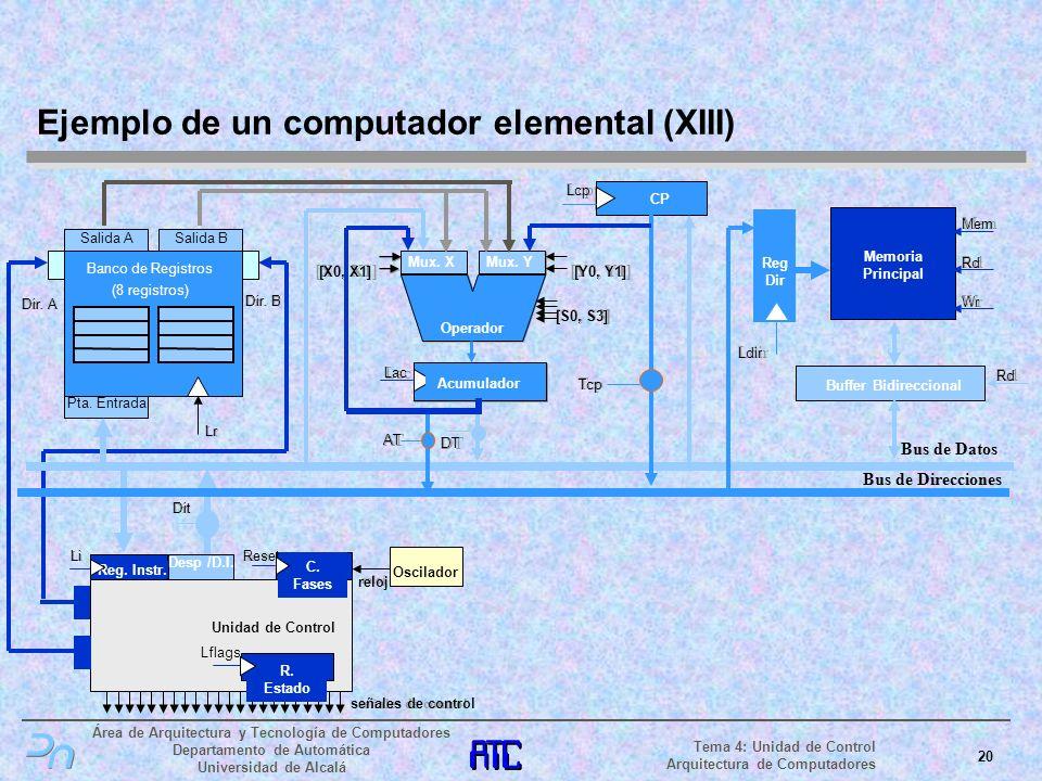 Ejemplo de un computador elemental (XIII)