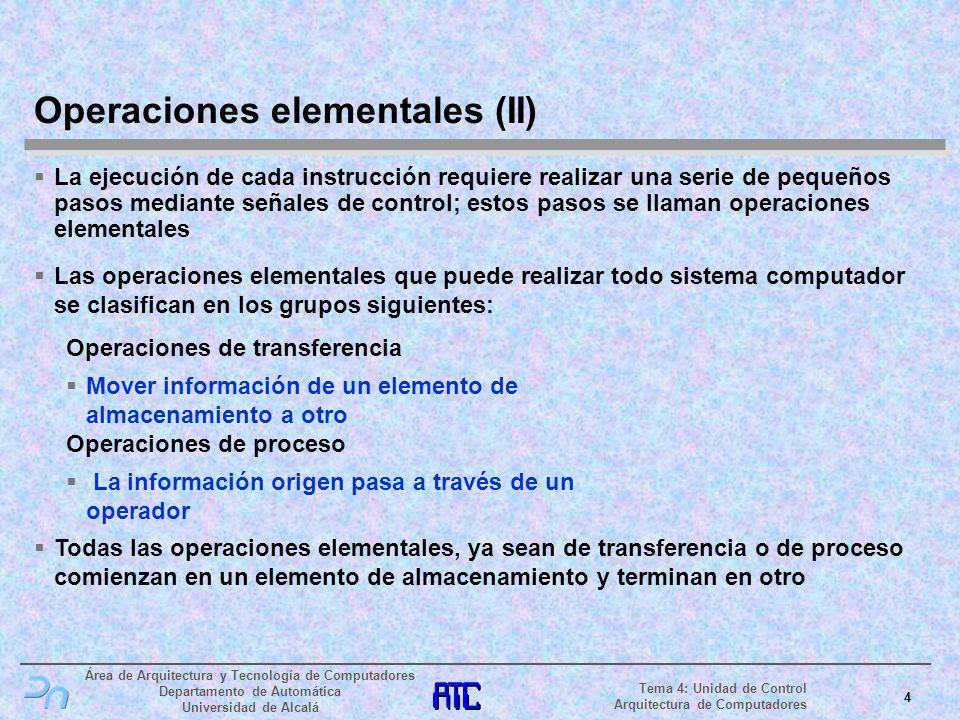 Operaciones elementales (II)