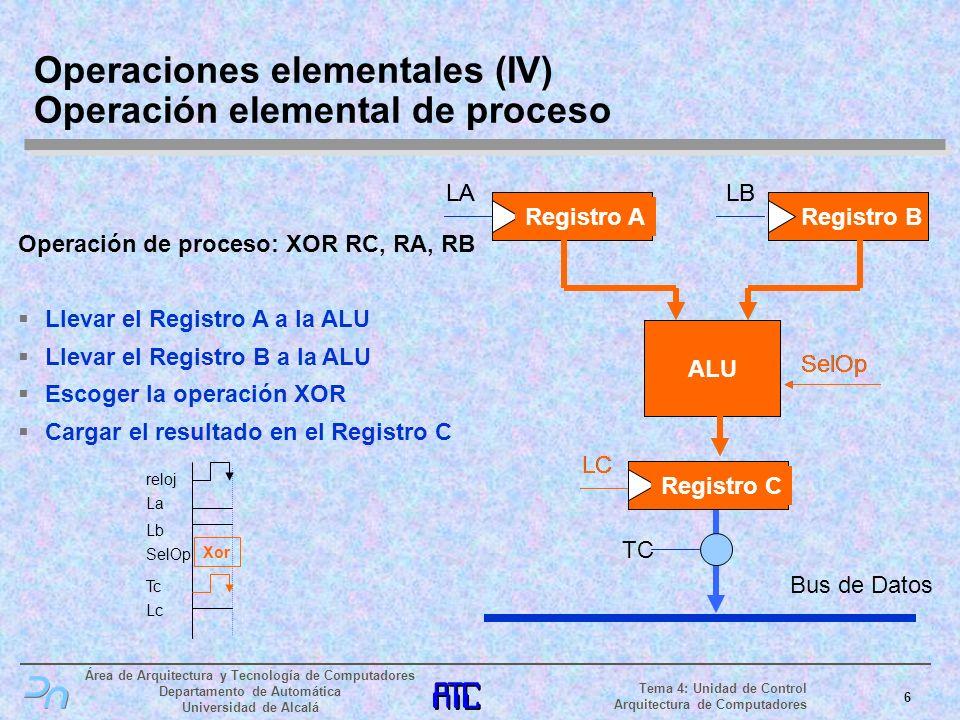 Operaciones elementales (IV) Operación elemental de proceso