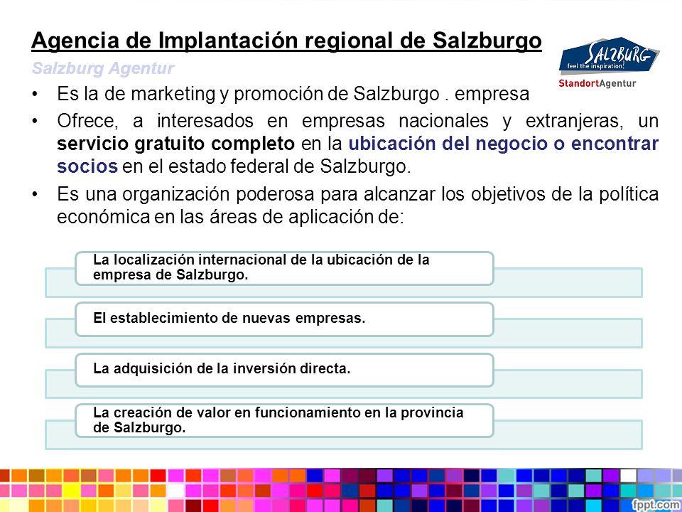 Agencia de Implantación regional de Salzburgo Salzburg Agentur