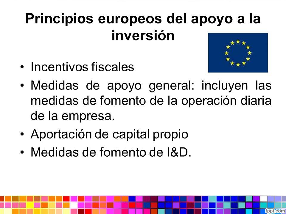 Principios europeos del apoyo a la inversión