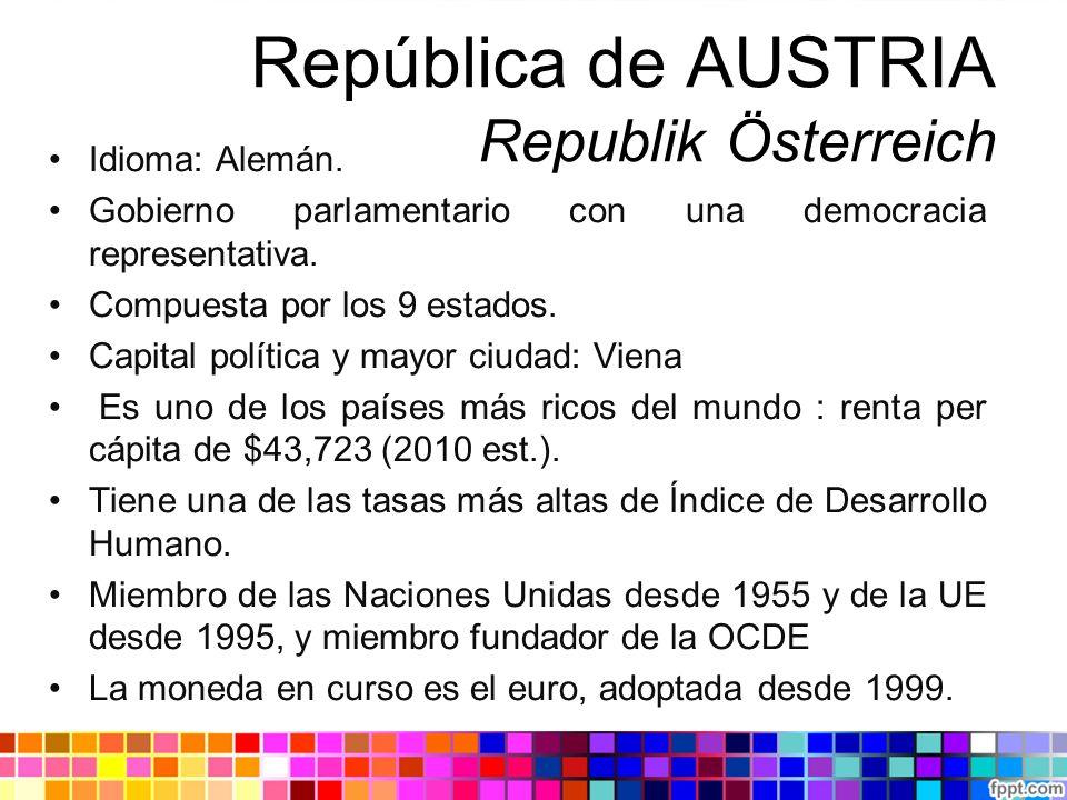 República de AUSTRIA Republik Österreich