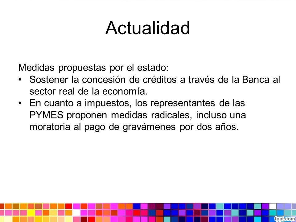 Actualidad Medidas propuestas por el estado: