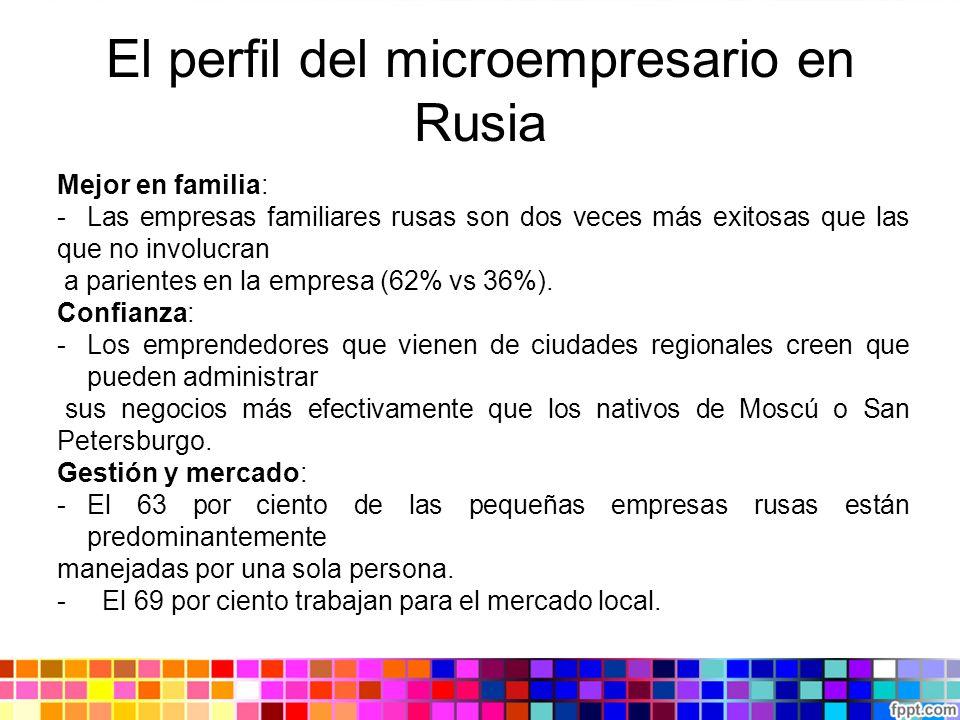 El perfil del microempresario en Rusia