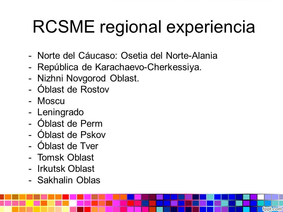 RCSME regional experiencia