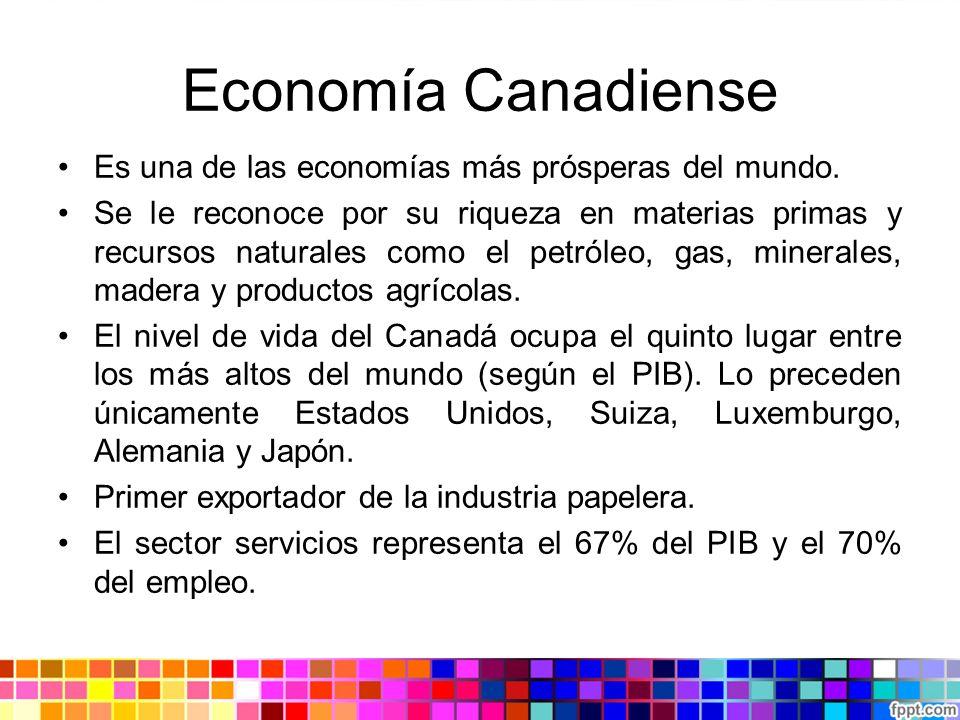 Economía Canadiense Es una de las economías más prósperas del mundo.