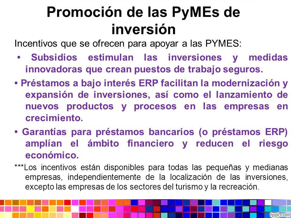 Promoción de las PyMEs de inversión