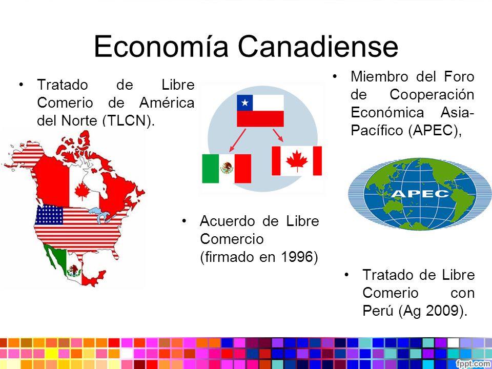 Economía Canadiense Miembro del Foro de Cooperación Económica Asia-Pacífico (APEC), Tratado de Libre Comerio de América del Norte (TLCN).