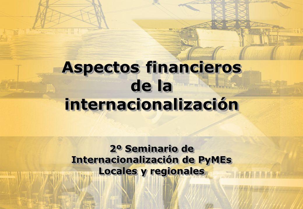 Aspectos financieros de la internacionalización