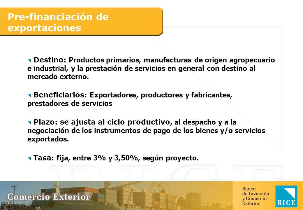 Pre-financiación de exportaciones