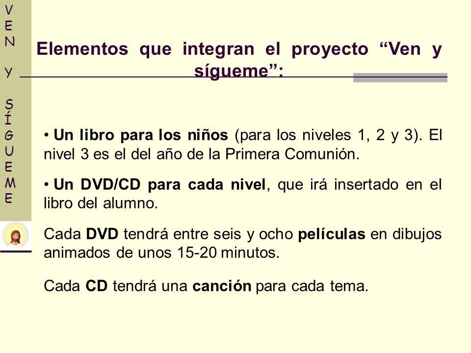 Elementos que integran el proyecto Ven y sígueme :