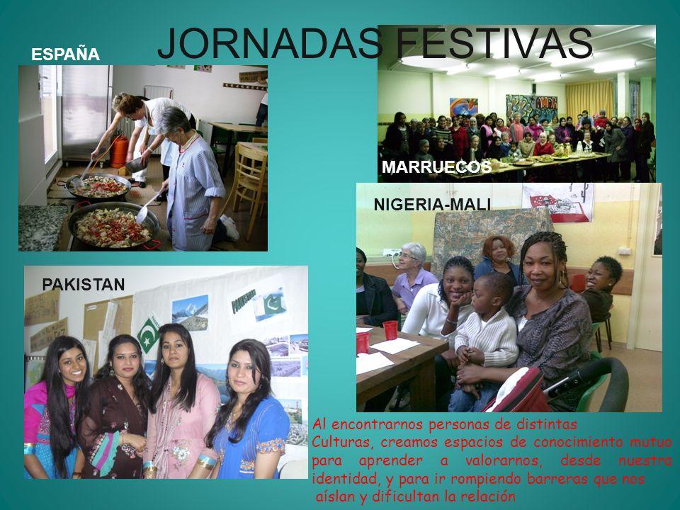 JORNADAS FESTIVAS ESPAÑA MARRUECOS NIGERIA-MALI PAKISTAN