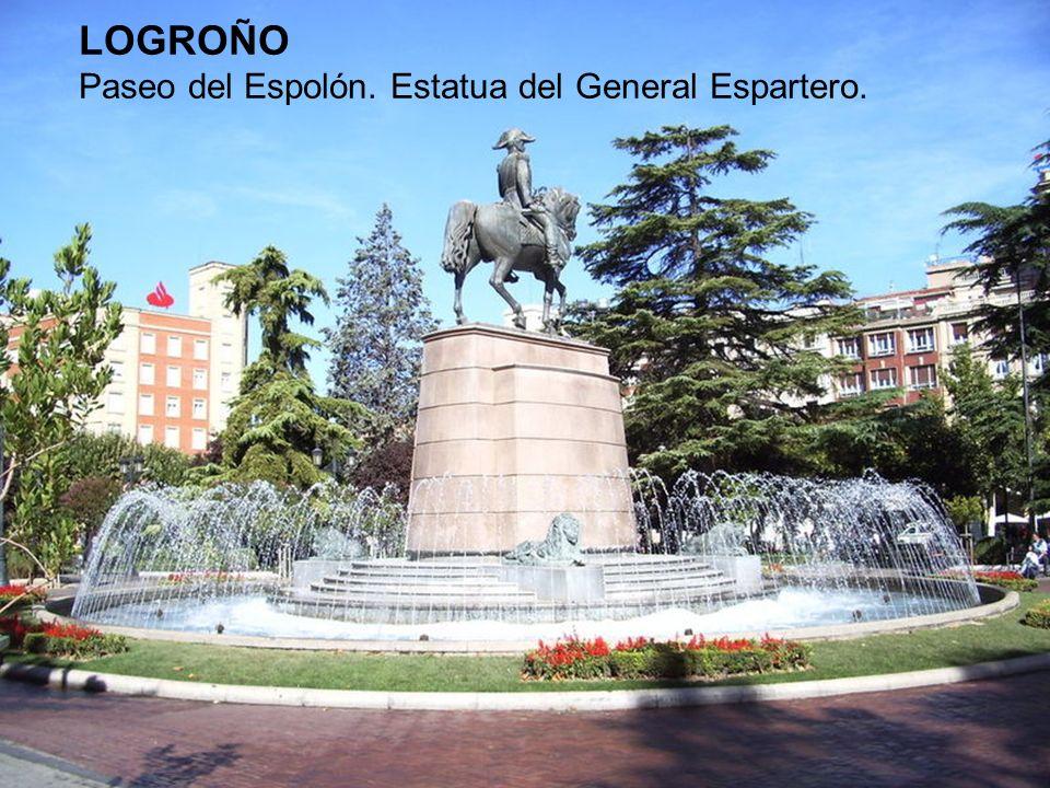 LOGROÑO Paseo del Espolón. Estatua del General Espartero.
