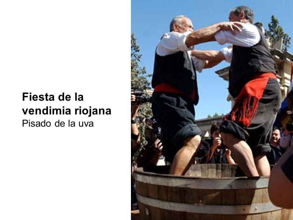 Fiesta de la vendimia riojana Pisado de la uva