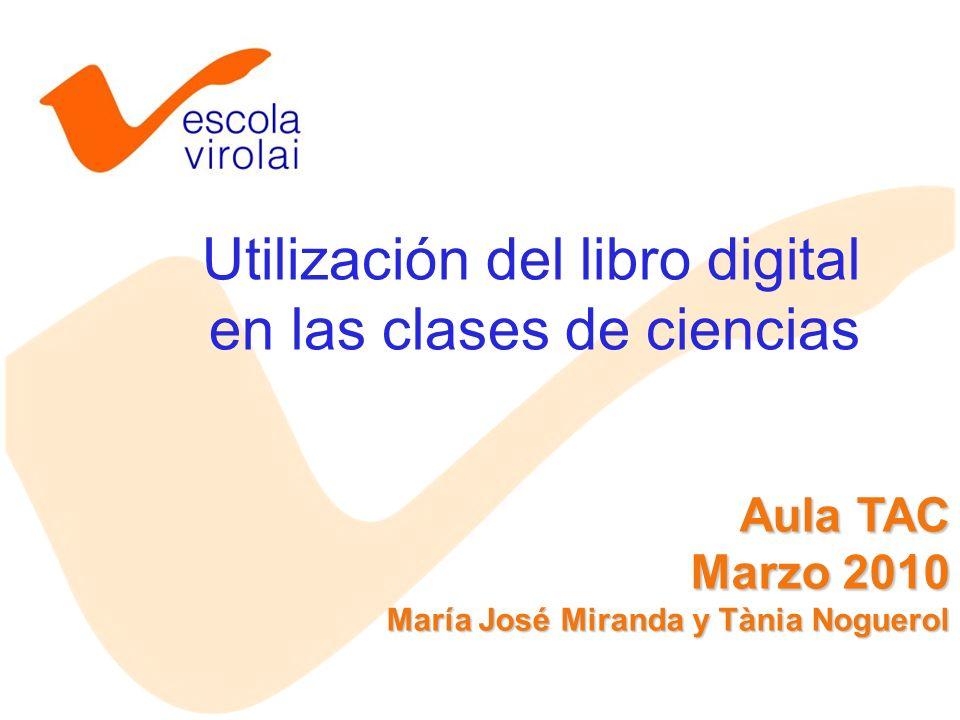 Utilización del libro digital en las clases de ciencias