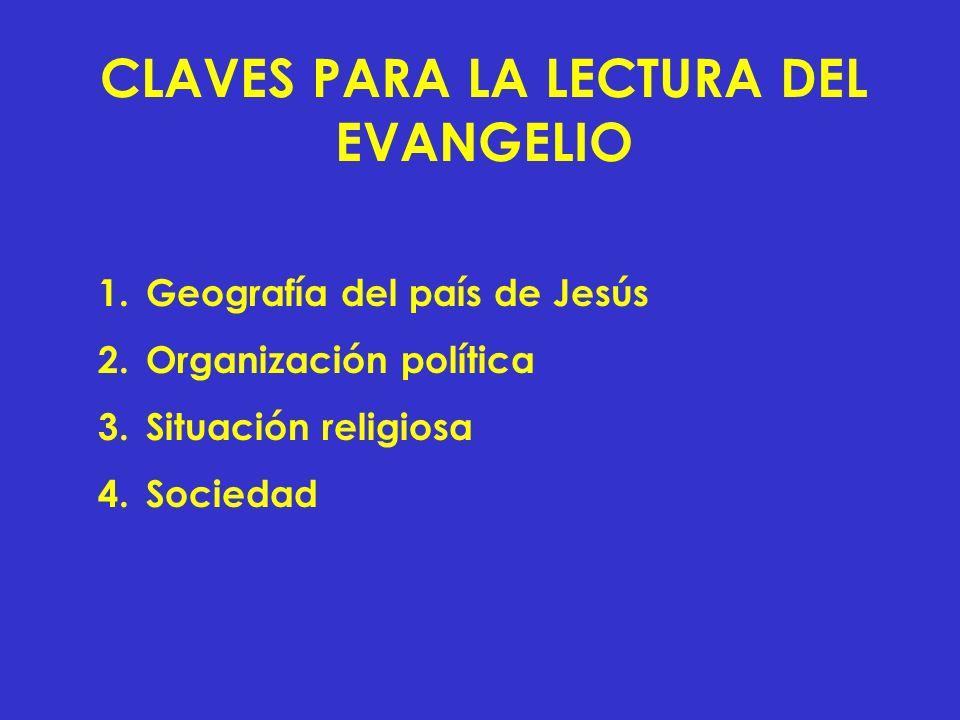 CLAVES PARA LA LECTURA DEL EVANGELIO