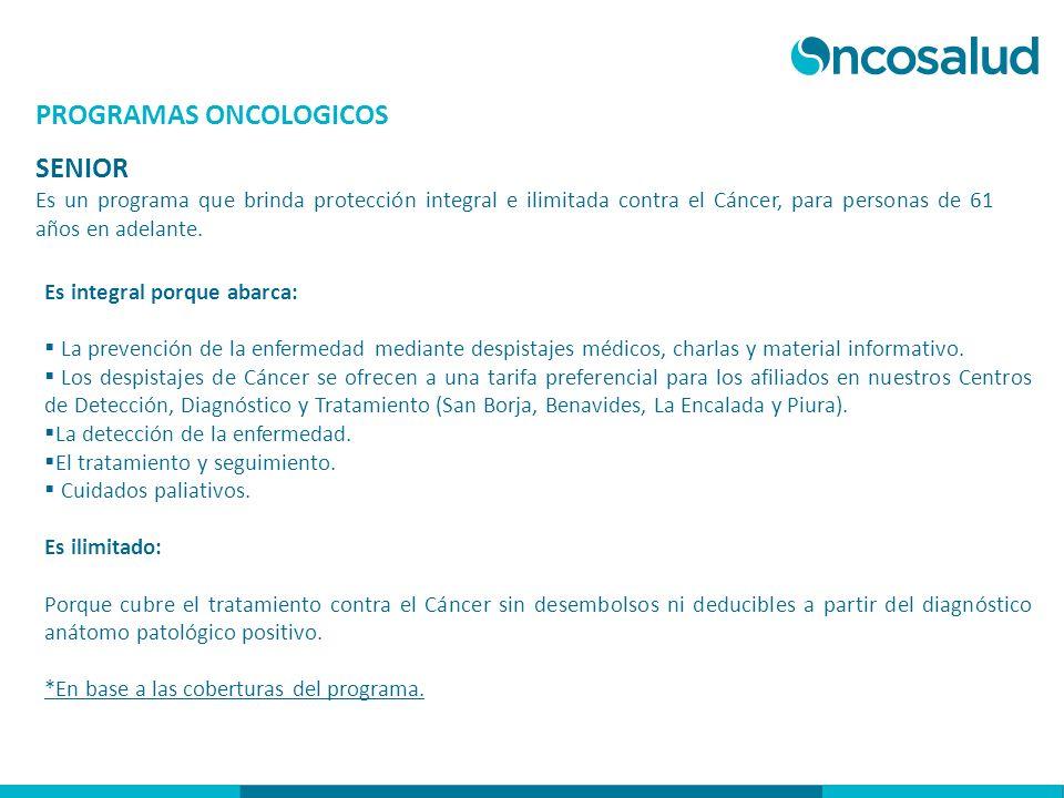 PROGRAMAS ONCOLOGICOS SENIOR