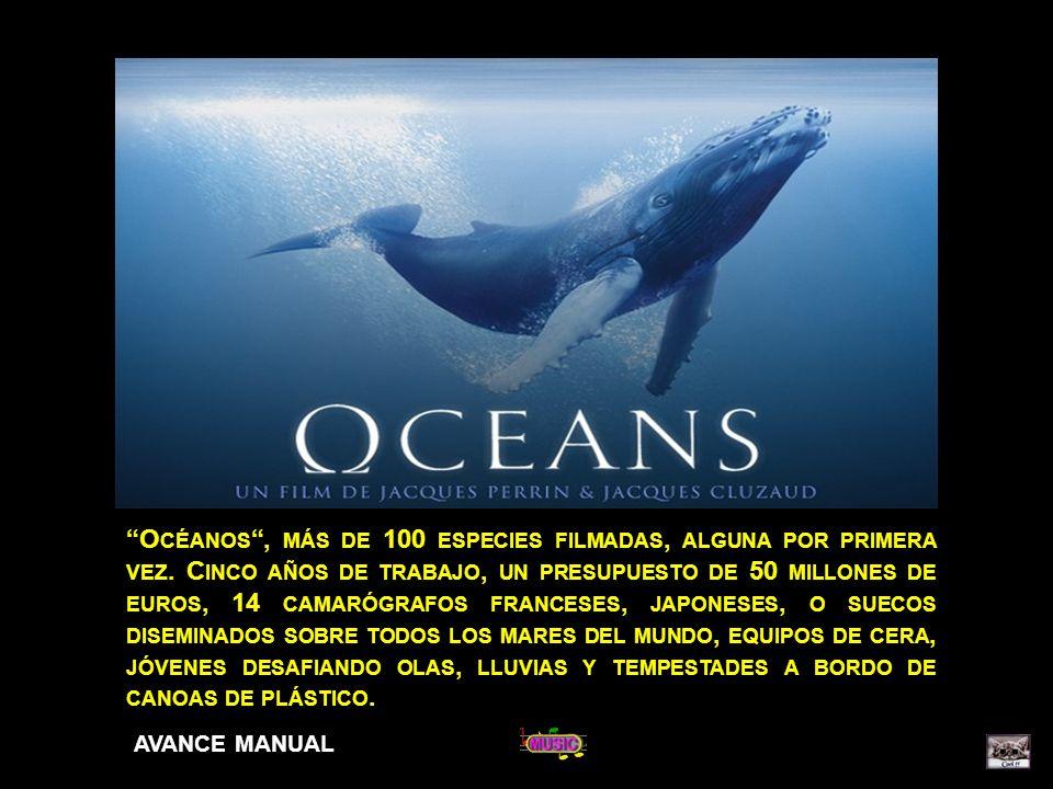 Océanos , más de 100 especies filmadas, alguna por primera vez