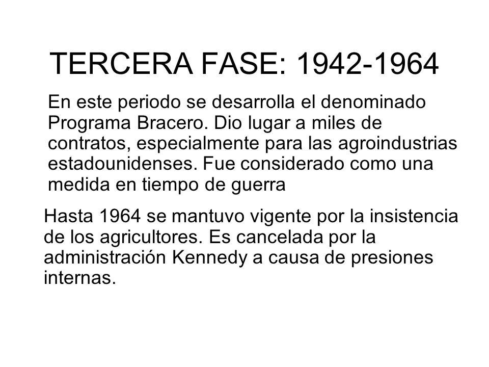 TERCERA FASE: 1942-1964
