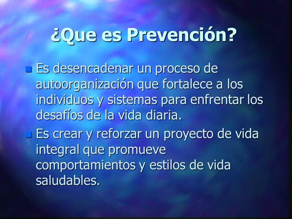 ¿Que es Prevención