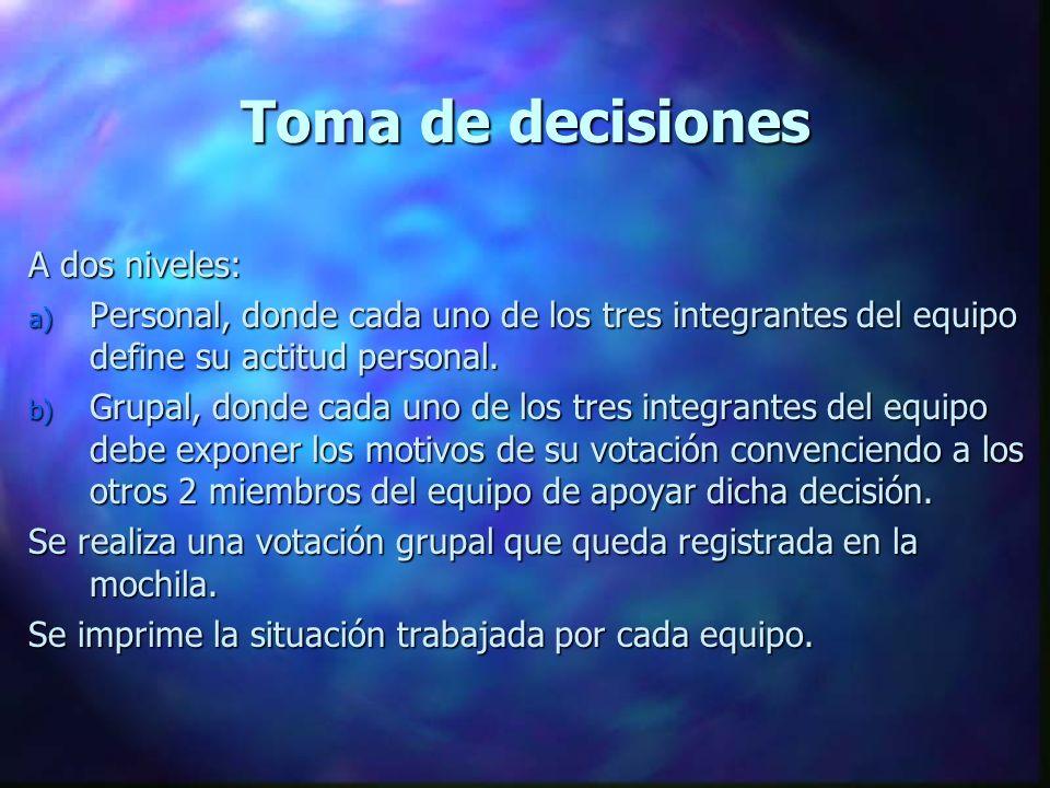 Toma de decisiones A dos niveles: