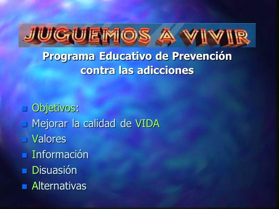 Programa Educativo de Prevención contra las adicciones