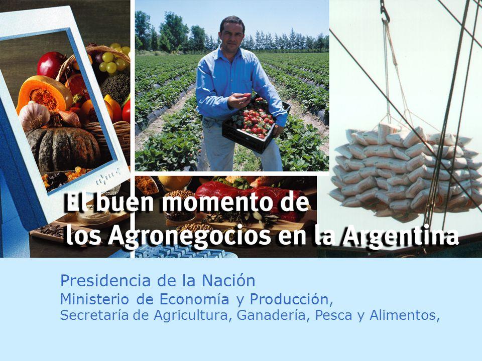 Presidencia de la Nación Ministerio de Economía y Producción, Secretaría de Agricultura, Ganadería, Pesca y Alimentos,