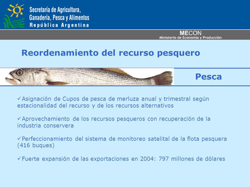 Reordenamiento del recurso pesquero