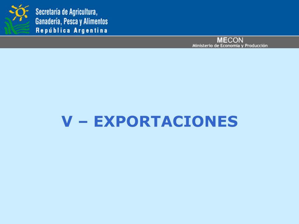 V – EXPORTACIONES