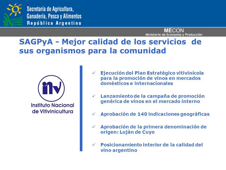 SAGPyA - Mejor calidad de los servicios de sus organismos para la comunidad