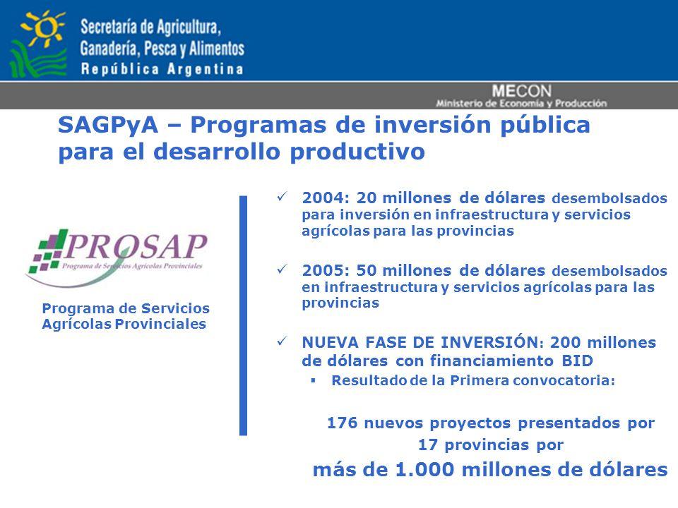 SAGPyA – Programas de inversión pública para el desarrollo productivo