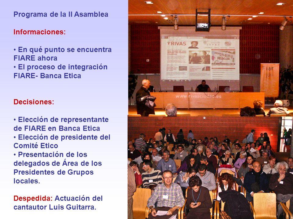 Programa de la II Asamblea