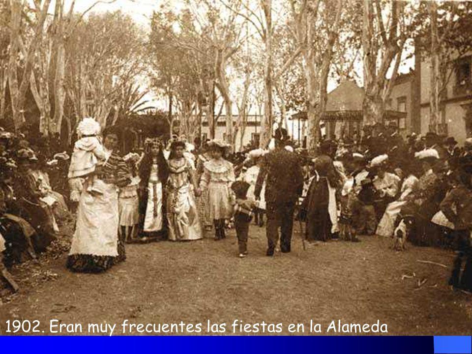 1902. Eran muy frecuentes las fiestas en la Alameda