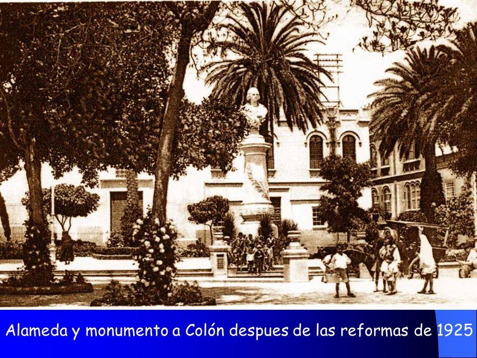 Alameda y monumento a Colón despues de las reformas de 1925