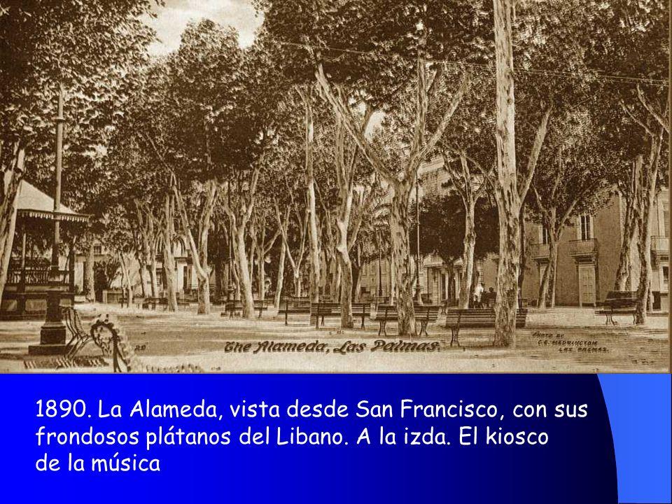 1890. La Alameda, vista desde San Francisco, con sus