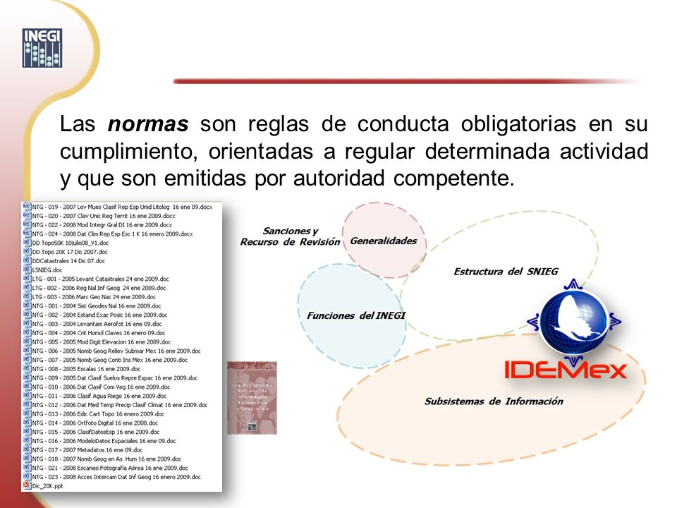 Las normas son reglas de conducta obligatorias en su cumplimiento, orientadas a regular determinada actividad y que son emitidas por autoridad competente.