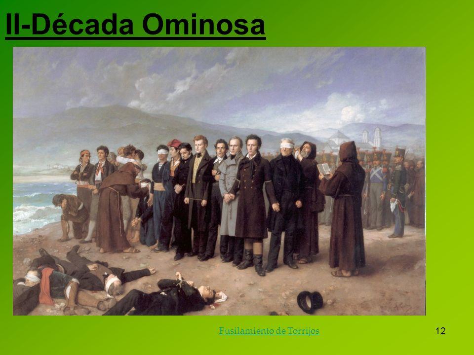 II-Década Ominosa Fusilamiento de Torrijos