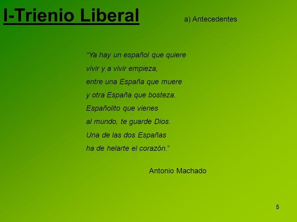 I-Trienio Liberal a) Antecedentes