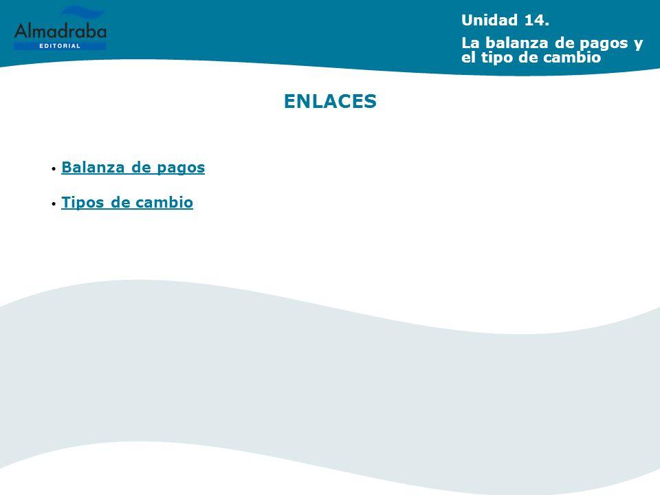 ENLACES Unidad 14. La balanza de pagos y el tipo de cambio