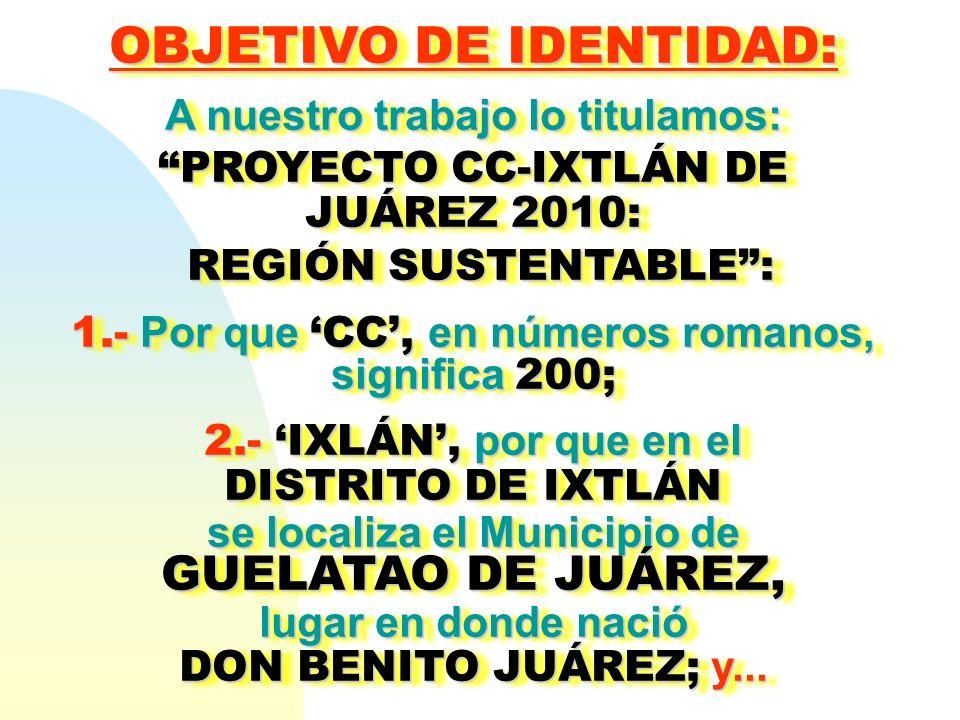 OBJETIVO DE IDENTIDAD: