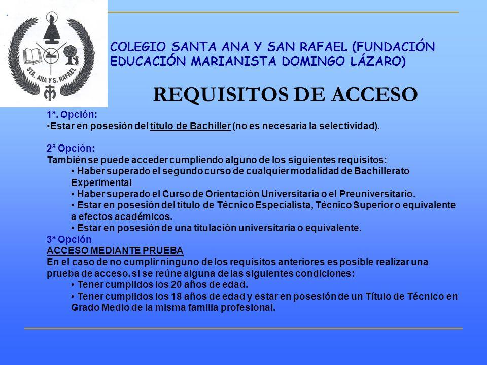 COLEGIO SANTA ANA Y SAN RAFAEL (FUNDACIÓN EDUCACIÓN MARIANISTA DOMINGO LÁZARO)