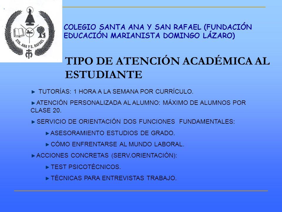 TIPO DE ATENCIÓN ACADÉMICA AL ESTUDIANTE