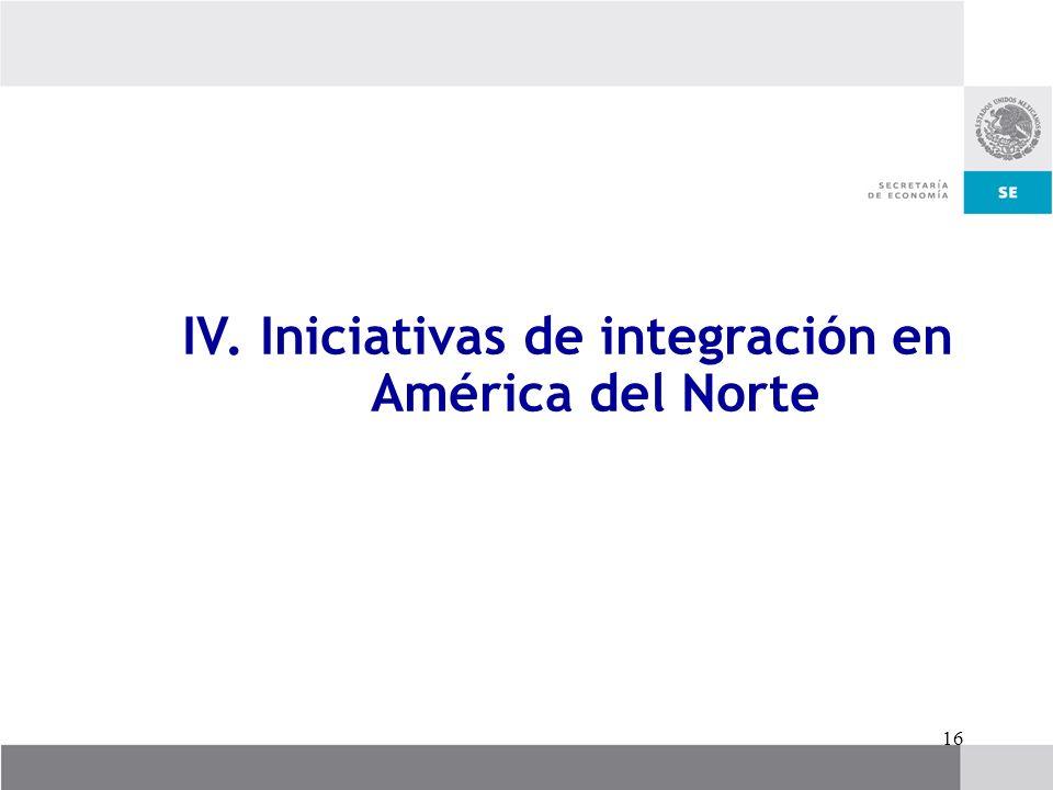 IV. Iniciativas de integración en América del Norte