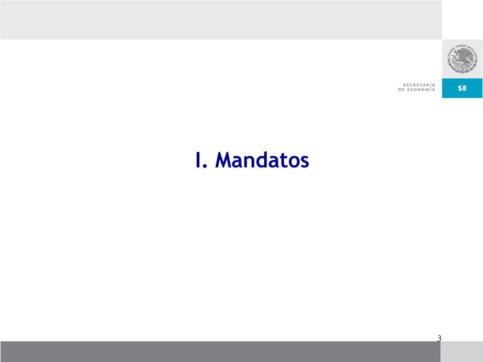 I. Mandatos