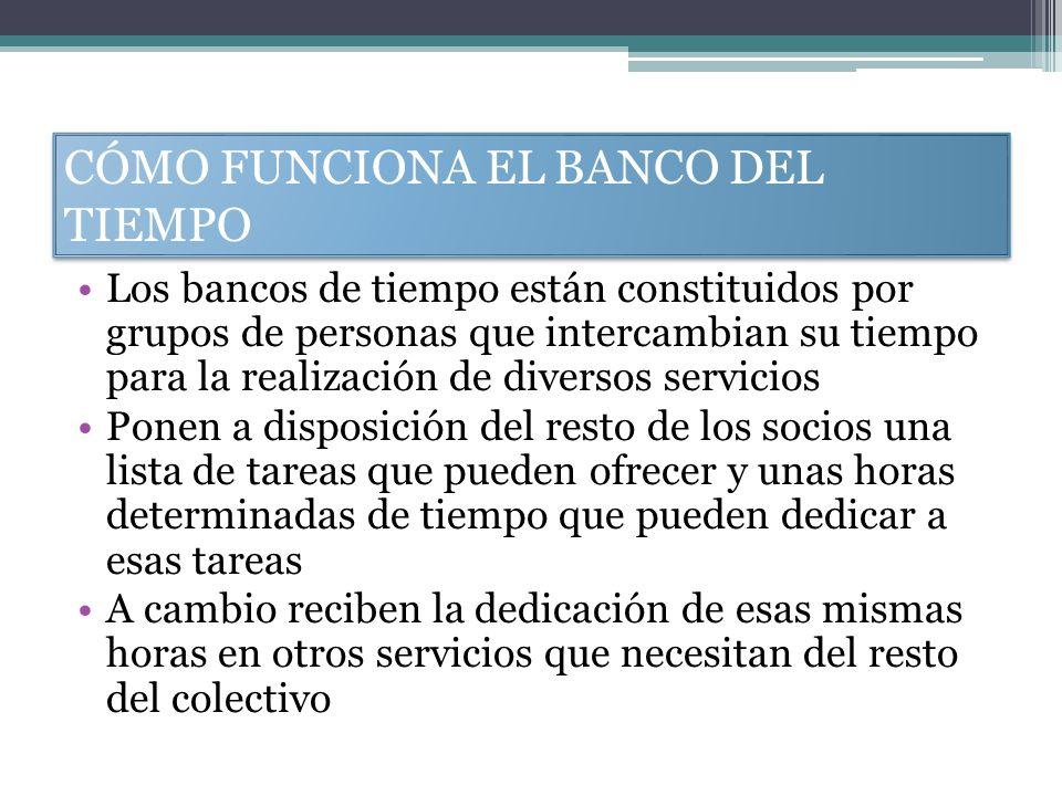 CÓMO FUNCIONA EL BANCO DEL TIEMPO