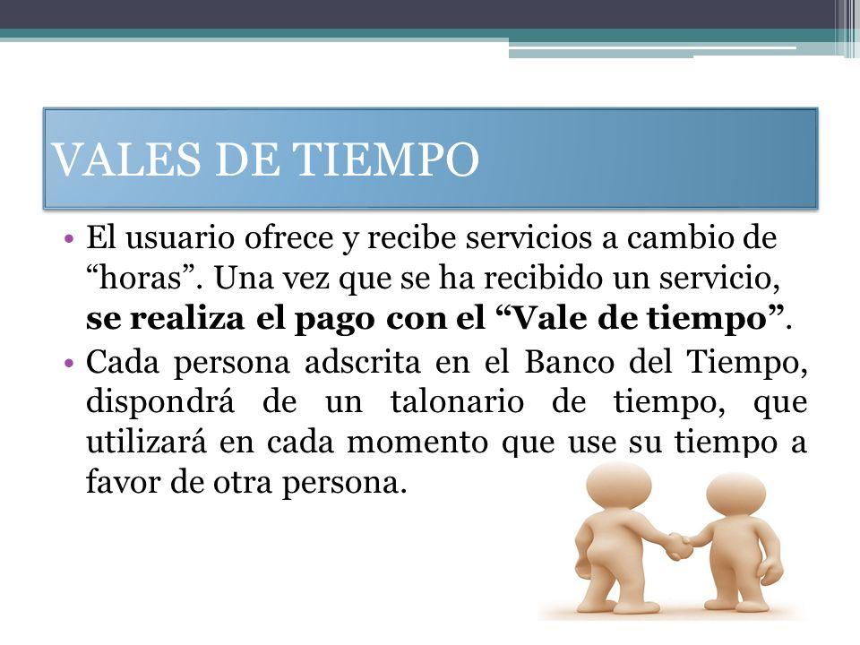 VALES DE TIEMPO