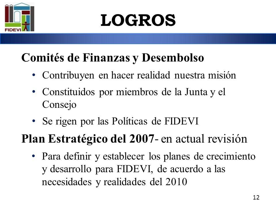 LOGROS Comités de Finanzas y Desembolso