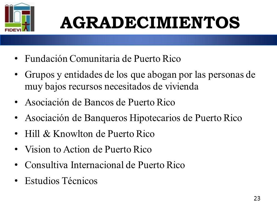 AGRADECIMIENTOS Fundación Comunitaria de Puerto Rico