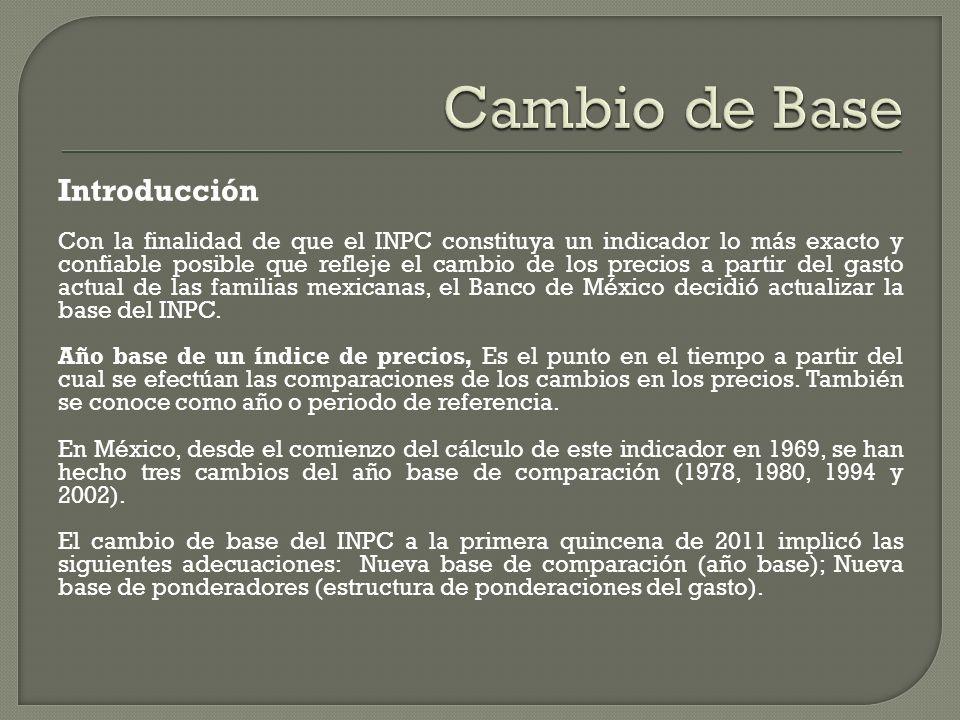Cambio de Base Introducción