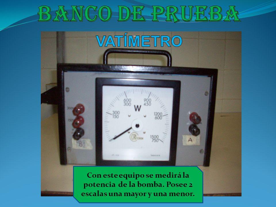 Banco de prueba VATÍMETRO